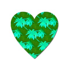 Palm Trees Island Jungle Heart Magnet by CrypticFragmentsColors