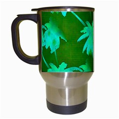 Palm Trees Island Jungle Travel Mugs (white) by CrypticFragmentsColors