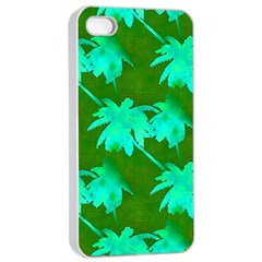Palm Trees Island Jungle Apple Iphone 4/4s Seamless Case (white) by CrypticFragmentsColors