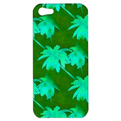 Palm Trees Island Jungle Apple Iphone 5 Hardshell Case by CrypticFragmentsColors