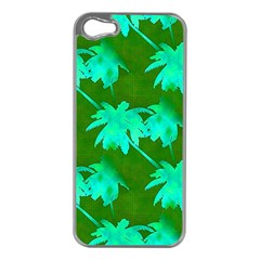 Palm Trees Island Jungle Apple Iphone 5 Case (silver) by CrypticFragmentsColors