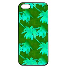 Palm Trees Island Jungle Apple Iphone 5 Seamless Case (black) by CrypticFragmentsColors