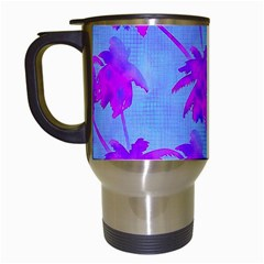 Palm Trees Caribbean Evening Travel Mugs (white) by CrypticFragmentsColors