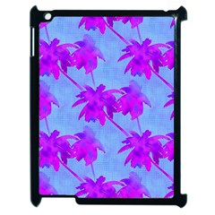 Palm Trees Caribbean Evening Apple Ipad 2 Case (black) by CrypticFragmentsColors