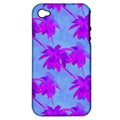 Palm Trees Caribbean Evening Apple Iphone 4/4s Hardshell Case (pc+silicone) by CrypticFragmentsColors