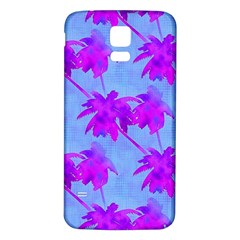 Palm Trees Caribbean Evening Samsung Galaxy S5 Back Case (white) by CrypticFragmentsColors
