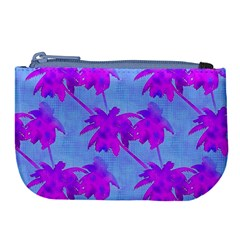 Palm Trees Caribbean Evening Large Coin Purse by CrypticFragmentsColors