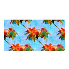 Palm Trees Sunset Glow Satin Wrap by CrypticFragmentsColors