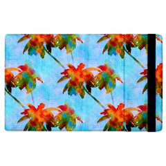 Palm Trees Sunset Glow Apple Ipad 3/4 Flip Case by CrypticFragmentsColors