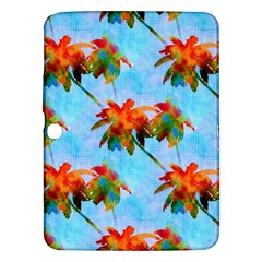Palm Trees Sunset Glow Samsung Galaxy Tab 3 (10 1 ) P5200 Hardshell Case  by CrypticFragmentsColors