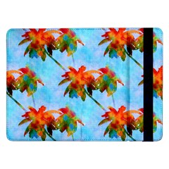 Palm Trees Sunset Glow Samsung Galaxy Tab Pro 12 2  Flip Case by CrypticFragmentsColors