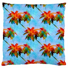 Palm Trees Sunset Glow Standard Flano Cushion Case (two Sides) by CrypticFragmentsColors