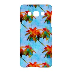 Palm Trees Sunset Glow Samsung Galaxy A5 Hardshell Case  by CrypticFragmentsColors