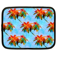 Palm Trees Sunset Glow Netbook Case (xxl)  by CrypticFragmentsColors