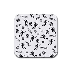 Witches And Pentacles Rubber Coaster (square)  by IIPhotographyAndDesigns