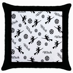 Witches And Pentacles Throw Pillow Case (black) by IIPhotographyAndDesigns