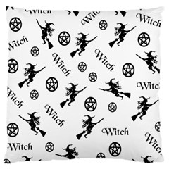 Witches And Pentacles Large Cushion Case (two Sides) by IIPhotographyAndDesigns