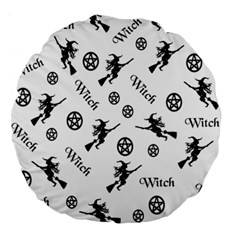 Witches And Pentacles Large 18  Premium Round Cushions by IIPhotographyAndDesigns