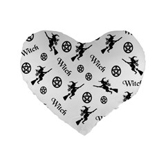 Witches And Pentacles Standard 16  Premium Heart Shape Cushions by IIPhotographyAndDesigns