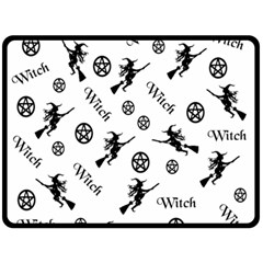 Witches And Pentacles Double Sided Fleece Blanket (large)  by IIPhotographyAndDesigns