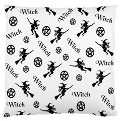 Witches And Pentacles Large Flano Cushion Case (one Side) by IIPhotographyAndDesigns