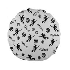 Witches And Pentacles Standard 15  Premium Flano Round Cushions by IIPhotographyAndDesigns