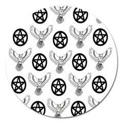 Owls And Pentacles Magnet 5  (round) by IIPhotographyAndDesigns