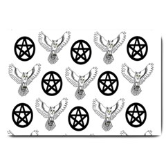 Owls And Pentacles Large Doormat  by IIPhotographyAndDesigns