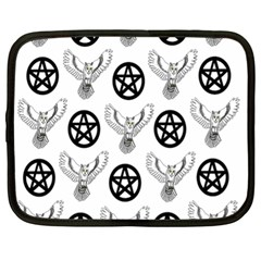 Owls And Pentacles Netbook Case (xl)  by IIPhotographyAndDesigns