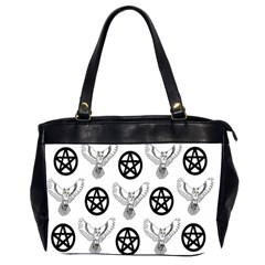 Owls And Pentacles Office Handbags (2 Sides)  by IIPhotographyAndDesigns