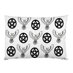 Owls And Pentacles Pillow Case (two Sides) by IIPhotographyAndDesigns