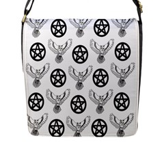 Owls And Pentacles Flap Messenger Bag (l)  by IIPhotographyAndDesigns