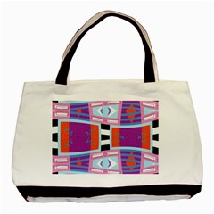 Mirrored Distorted Shapes                                    Basic Tote Bag by LalyLauraFLM