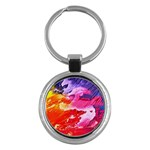 Red purple paint                                     Key Chain (Round) Front
