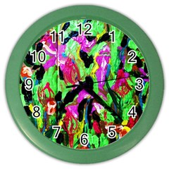 Spring Ornaments 2 Color Wall Clock by bestdesignintheworld