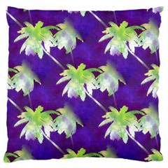 Palm Trees Hot Summer Nights Large Cushion Case (two Sides) by CrypticFragmentsColors