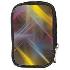 Fractals Stripes                                        Compact Camera Leather Case by LalyLauraFLM