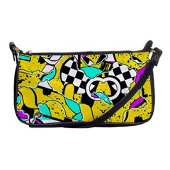 Shapes On A Yellow Background                                         Shoulder Clutch Bag by LalyLauraFLM