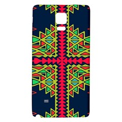Distorted Shapes On A Blue Background                                 Samsung Galaxy Note Edge Hardshell Case by LalyLauraFLM