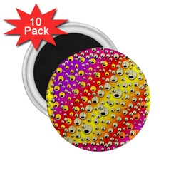 Festive Music Tribute In Rainbows 2 25  Magnets (10 Pack)  by pepitasart