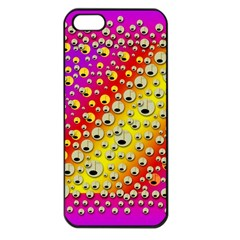 Festive Music Tribute In Rainbows Apple Iphone 5 Seamless Case (black) by pepitasart