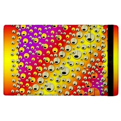 Festive Music Tribute In Rainbows Apple Ipad 3/4 Flip Case by pepitasart