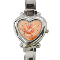 Wonderful Rose In Soft Colors Heart Italian Charm Watch by FantasyWorld7