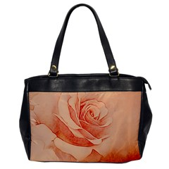 Wonderful Rose In Soft Colors Office Handbags by FantasyWorld7