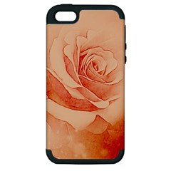 Wonderful Rose In Soft Colors Apple Iphone 5 Hardshell Case (pc+silicone) by FantasyWorld7