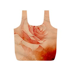 Wonderful Rose In Soft Colors Full Print Recycle Bags (s)  by FantasyWorld7