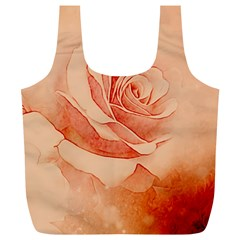 Wonderful Rose In Soft Colors Full Print Recycle Bags (l)  by FantasyWorld7