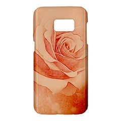 Wonderful Rose In Soft Colors Samsung Galaxy S7 Hardshell Case  by FantasyWorld7