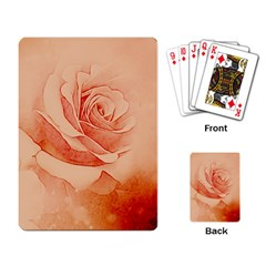 Wonderful Rose In Soft Colors Playing Card by FantasyWorld7