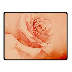 Wonderful Rose In Soft Colors Fleece Blanket (small) by FantasyWorld7